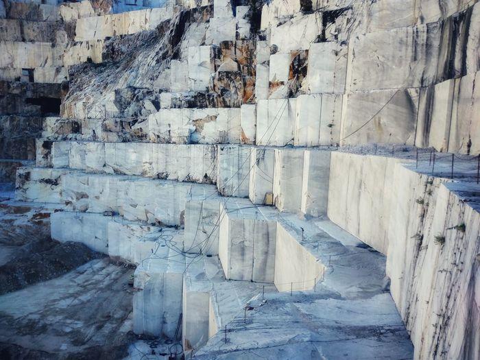 Full frame shot of marble in carrara italy