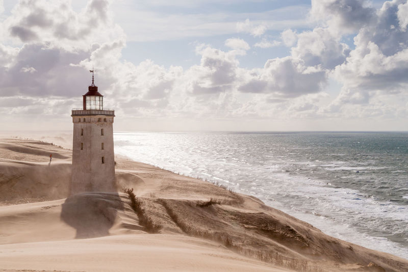 Rubjerg Knude Lighthouse In Desert At Seashore