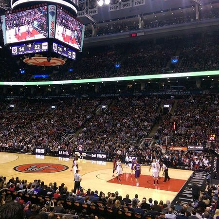 At the Toronto Raptors game with @visualbass thanks to Fido RogersSI