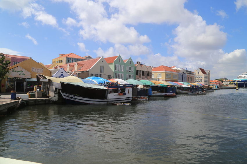 Caribbean Sea Day Fisherboats  Floating Market Harbor Mode Of Transport Nautical Vessel Outdoors Punda Sky Transportation Travel Destinations Water Waterfront