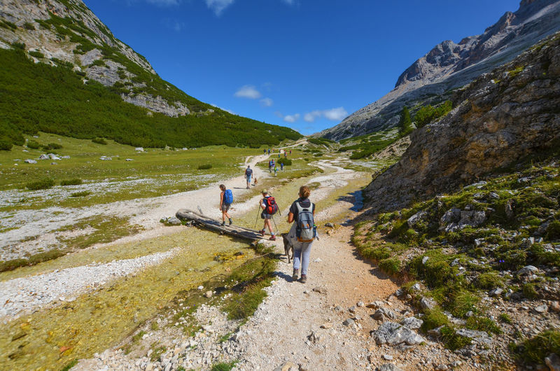 People on mountain in italy