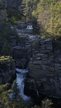 Cascading falls Cascading Water Falls Cascade Trees Rock Formation Tree Rock - Object Sky Flowing Water