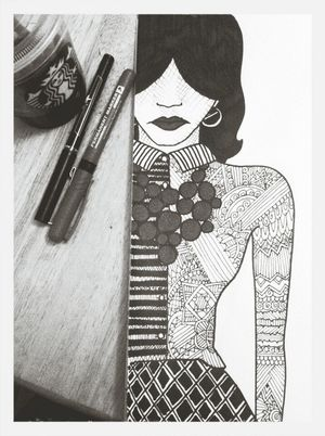 are you ready for the details My Drawing Scribble Fortheloveofblackandwhite Fashion