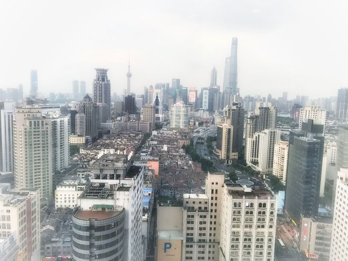 Travel Destinations China Shanghai Architecture Skyscraper Building Exterior Cityscape City Built Structure Tower Skyline Modern No People Downtown Urban Skyline Outdoors Day