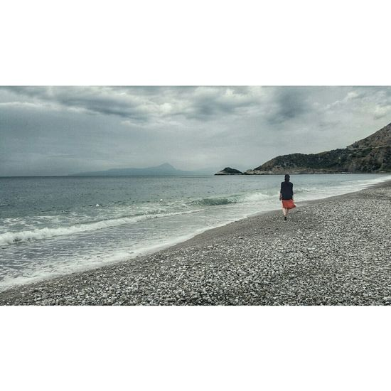 Summer on a solitary beach Camping Beach Landscape Italy