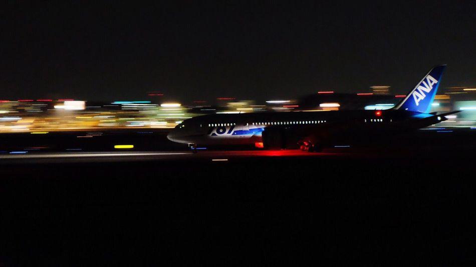 Plane Nightphotography X-E1