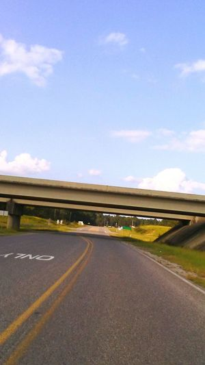 Outdoors Sky Day No People Rural Scene Sunlight . overpass road interstate Cement, Concrete, Gray, Stone, Hard, Construction, Urban, Paving,