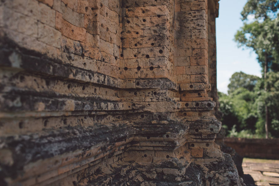 Siem Reap Cambodia Angkor Built Structure Architecture History Place Of Worship Religion The Past Belief Ancient Spirituality Day No People Building Tourism Travel Travel Destinations Old Focus On Foreground Art And Craft Outdoors Ancient Civilization Architectural Column