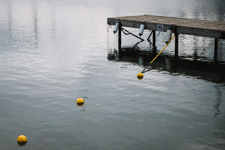 Yellow water in sea
