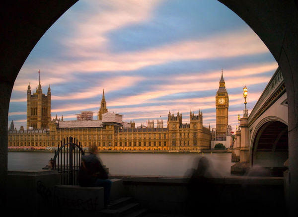 palace of Westminster at dusk River Thames Travel Destinations City Architecture Cityscape Tourism Travel Bridge - Man Made Structure Outdoors Urban Skyline Sunset Politics And Government Sky Clock Tower