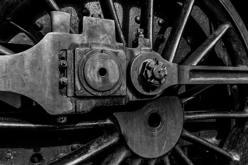 Hungarian Technical and Transportation Museum EyeEmNewHere Wheel Blackandwhite Detail Oldie  Outdoor Photography Streetphotography Train Trainwheels