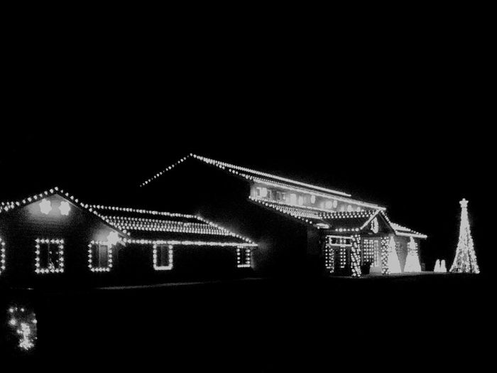 Illuminated No People NightLuminosity Winter Scenics Snow Streetview Built Structure Christmas Tree Arts Culture And Entertainment Christmaslights Christian Christmastime