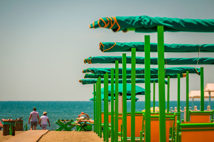 Bagnio Beach Clear Sky Day Green Color Horizon Over Water Italian Beach Mediterranean Sea Orange Color People Sea Tuscany Tuscany Beach Tuscany Sea Vacations Water Spiaggia Your Ticket To Europe