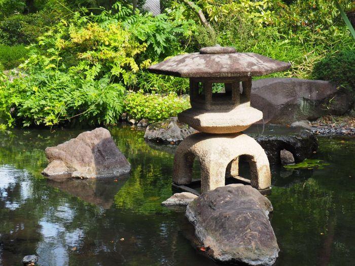 Stone Lantern Japanese Garden Hotel Yamanashi, Japan Garden Japan Yamanashi