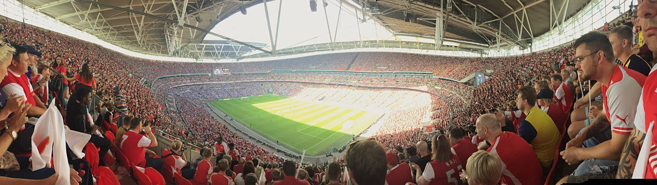 Wembley Stadium Football Soccer Arsenal Redandwhite Panorama Stadium
