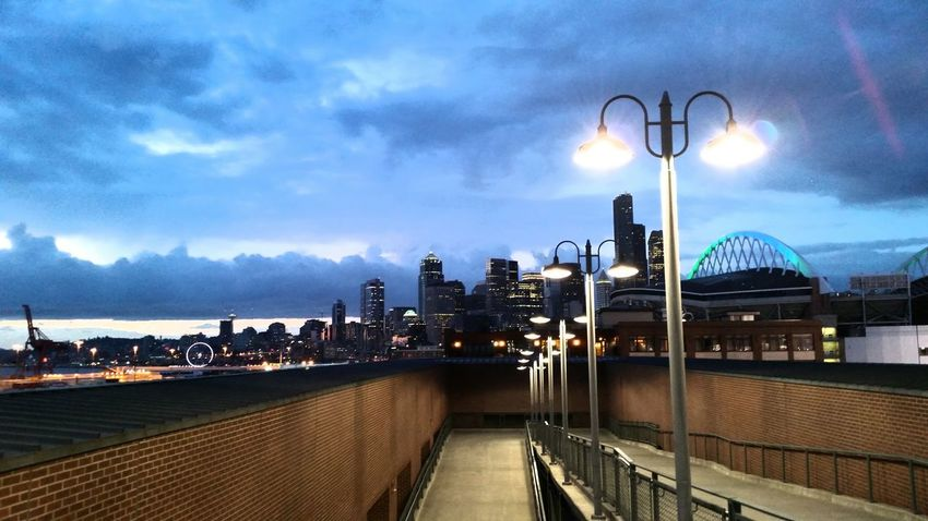 View from Safecofield Seattle, Washington Samsungphotography Mariners Baseball ⚾ you can see Centurylinkfield and the Ferris Wheel too!