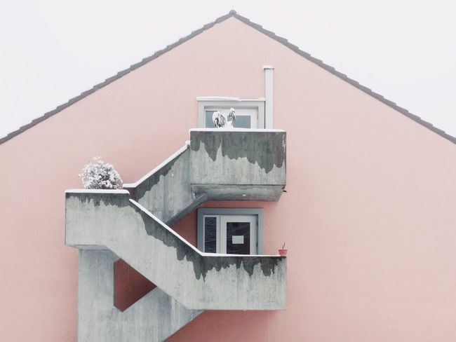 Minimalism Pastel Fog Built Structure Architecture Building Exterior House No People Outdoors Residential Building Window