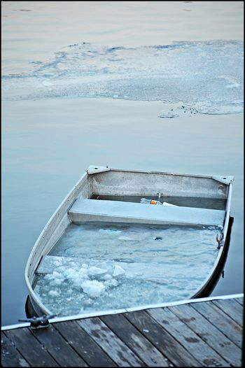 Boat Ice Nature Outdoors River Tranquility Water Wood - Material