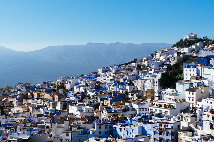 The famous blue town, chefchaouen, morocco.