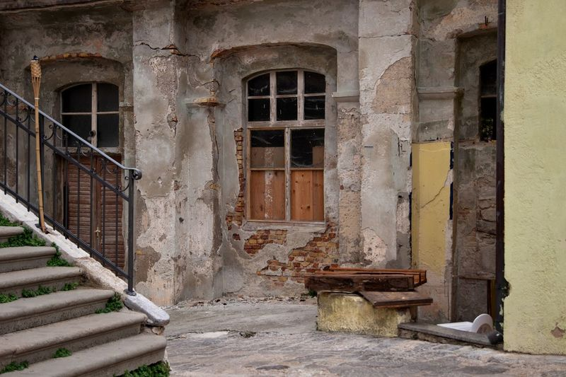 Architecture Built Structure Building Exterior Building Staircase Door Entrance Old Window No People Day History Outdoors