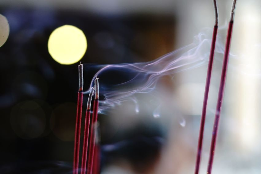 Incense Incense Sticks Incense Close-up Focus On Foreground No People Indoors  Night