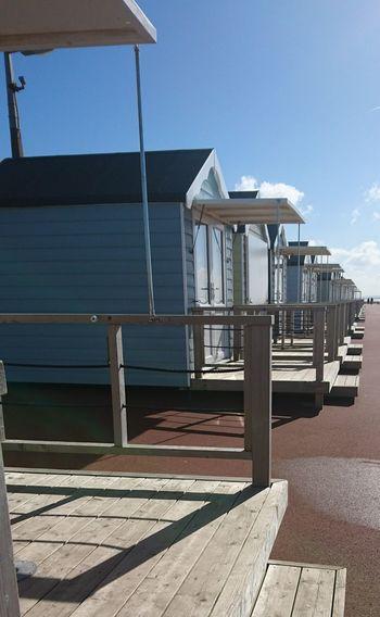 Blue Sky Beach Hut Sand Seaside_collection Seascape Horizon