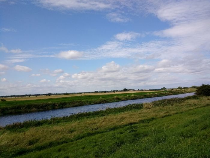 River Hull Hull River Rural Scene Nature Landscape Kingston Upon Hull Tickton Grange