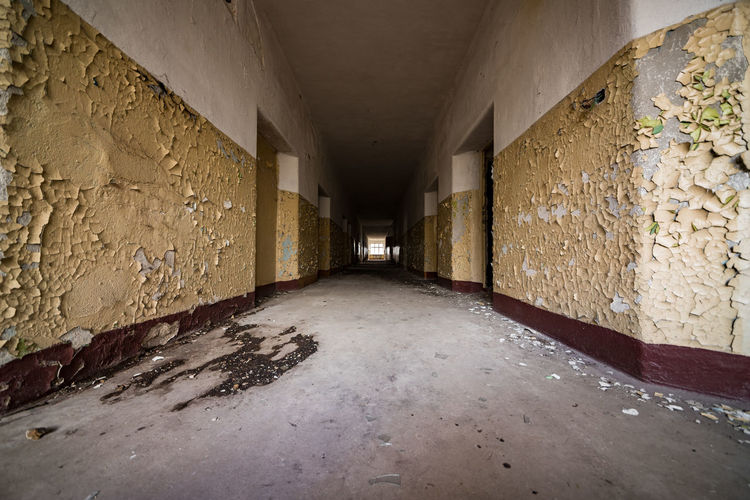 Abandoned Corridor In Building