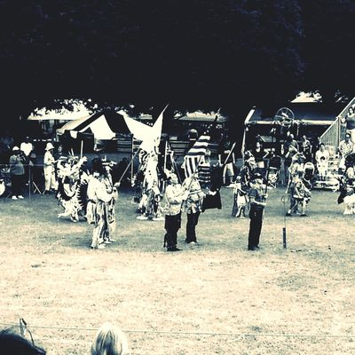 Powwow entrance ceremony