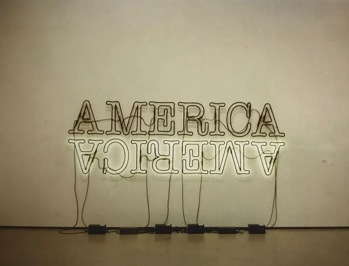America America 35mm Lightart Museum Losangeles America Thebroad Text Communication Copy Space No People Indoors  Day
