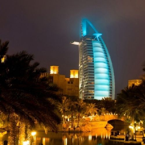 Dubai Burj_Al_Arab Madinat Jumairah night beautiful uae ♥
