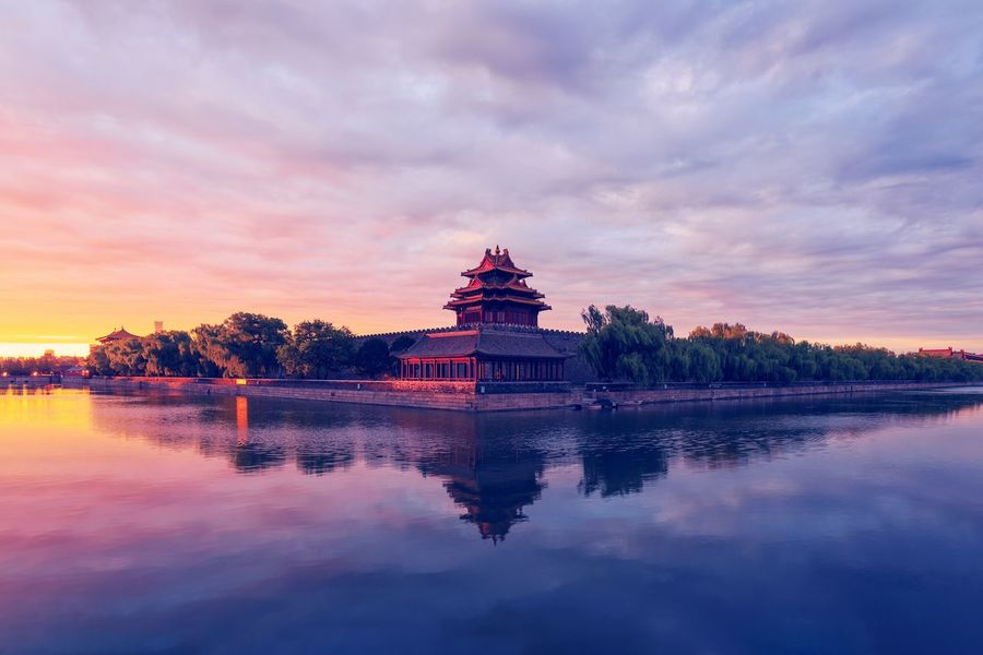Summer Palace Summer Palace Beijing Beijing Landmark Beijing, China Sky Water Reflection Cloud - Sky Architecture Sunset Built Structure Building Exterior Lake Nature Building Tree Waterfront No People Religion Travel Destinations The Past History Plant Outdoors