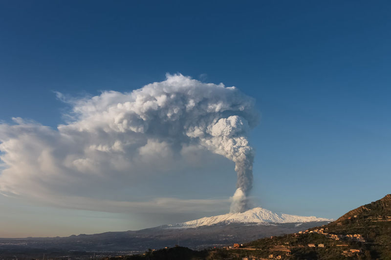 Catania Mountain Sky Smoke - Physical Structure Beauty In Nature Volcano Erupting Non-urban Scene Scenics - Nature Environment Cloud - Sky Geology Nature Day Landscape No People Emitting Land Power In Nature Power Active Volcano Outdoors Volcanic Crater Pollution Air Pollution Mountain Peak