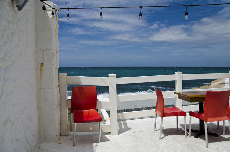 Beach Beauty In Nature Caribbean Sea Horizon Over Water Ocean View Restaurant By The Beach Scenics Sea Tranquil Scene Water