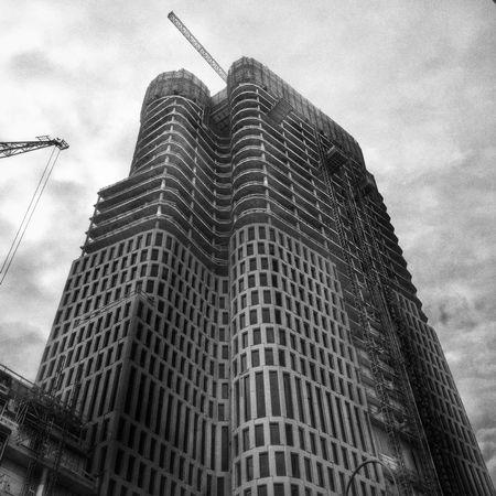 Skyscraper Construction in Berlin Germany Blackandwhite Black And White Black & White Architecture Dystopian