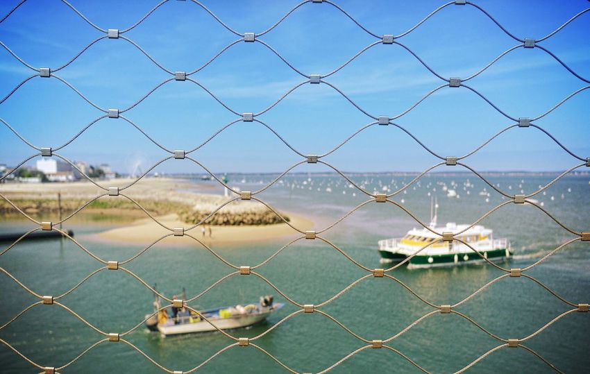 In a cage Panasonic DMC CM1 Eye4photography  Ship Sail Away, Sail Away Sailboat Sailing Arcachon Boarding Port Rope Boat Boats Onboard Net Sunshine Skycollection EyeEm Nature Lover