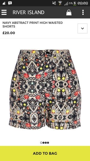 navy abstract print high waisted.. I want this! Riverisland Fashionitem Street Fashion Trendy