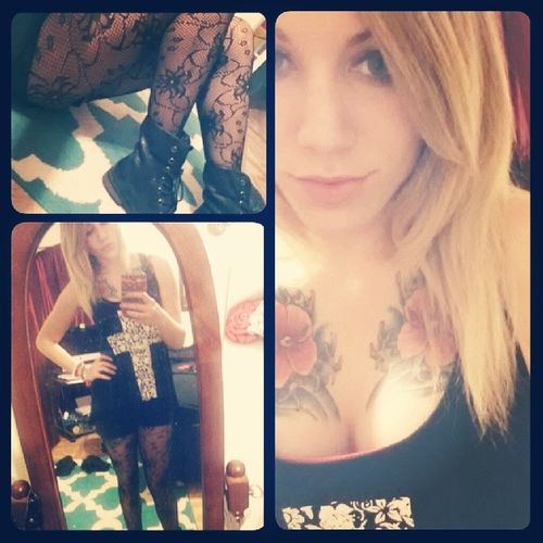 Just here being Gothicroyalty to pass the time. :p Bored Selfie Ootd blonde girlswithtattoos