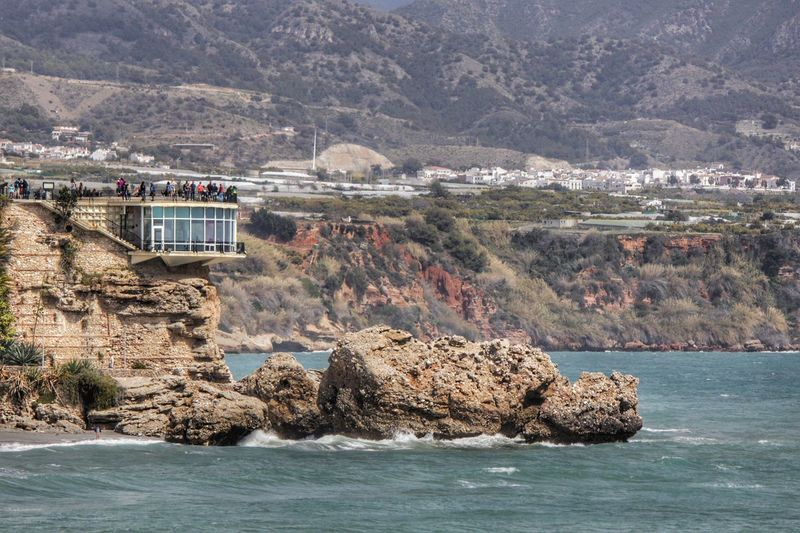 Cliff Coastline Landscapes With WhiteWall Mountain Mountain Range Nerja Nerja Andalucia Nerja Coast Rock Rock - Object Rocky Outcrop Rocky Outcropping Scenes Of Nerja Scenics Sea Sea View Sea Views Water Waterfront