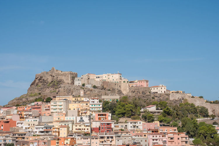 Castelsardo is a town in Sardinia, Italy, located in the northwest of the island Castelsardo Sardinia Sardegna Italy  Architecture Asinara Building Exterior Built Structure City Cityscape Clear Sky Day House No People Outdoors Residential Building Sardegna Sardinia Sardinia,italy Sky