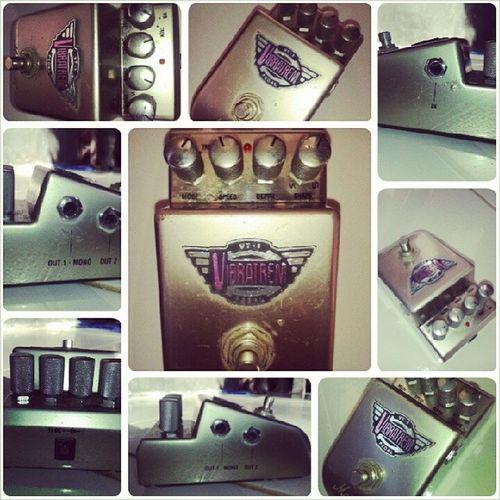 Vibratem Pedal single bypass , dual switch Vibrato Tremolo nooctave fuzz