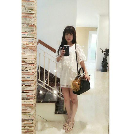 Today's Outfit 😊 Fendi Monster is accompanying me 😄 Fendi Fendipeekaboo FendiMonster Yvessaintlaurent oot ootd ootdind