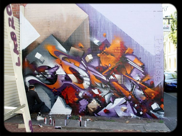 Graffiti Streetart Work In Progress Digital Does