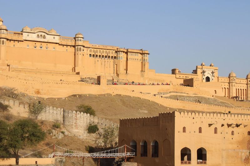 Amber Fort Architecture Built Structure Building Exterior Sky History The Past Clear Sky Travel Destinations Sunlight Ancient Building