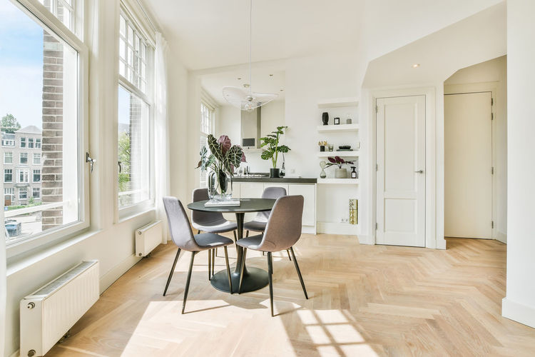 Table and chairs at home