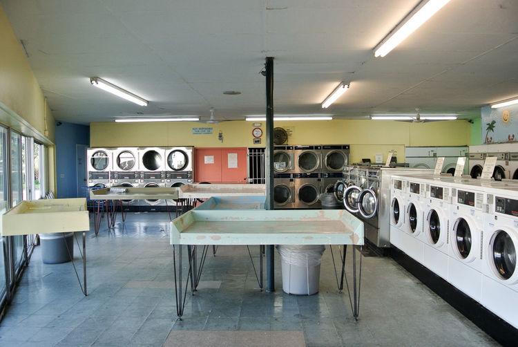 Washing machines at laundry