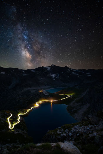 Serrù lake and agnell lake viewed from col del nivolet, gran paradiso national park italy