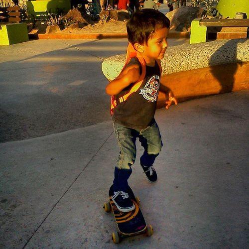 Mi pequeño skater! Enjoying Life Skate Skateboarding Sport