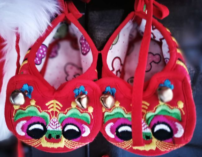 Close-up No People Chinese Art Full Length Chinese Traditional Culture Cultures History Non-western Script No People Landscape Chinese Embroidery Chinese Traditional Style Chinese Kid Tiger Shoes
