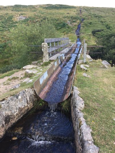 Devonport leat Stream River Water Leat Aquaduct Dartmoor Plant Nature Day No People High Angle View Land Outdoors Water Abandoned Landscape